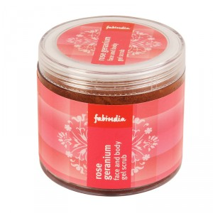 Buy Fabindia Rose Geranium Face and Body Gel Scrub - Nykaa