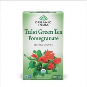 Buy Organic India Tulsi Pomegranate Tea (18 Tea Bag) - Nykaa