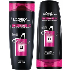 Buy L'Oreal Paris Fall Resist 3x Shampoo  + L'Oreal Paris Fall Resist 3x Conditioner - Nykaa