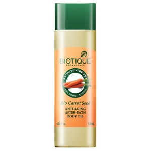Buy Biotique Bio Carrot Seed Anti-Aging After-Bath Body Oil - Nykaa