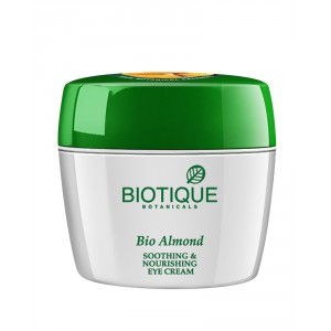Buy Biotique Bio Almond Soothing & Nourishing Eye Cream - Nykaa