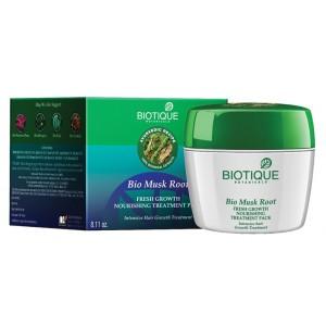 Buy Biotique Bio Musk Root Fresh Hair Growth Nourishing Treatment Pack - Nykaa