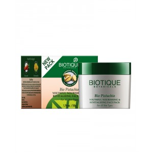 Buy Biotique Bio Pistachio Youthful Nourishing & Revitalizing Face Pack - Nykaa
