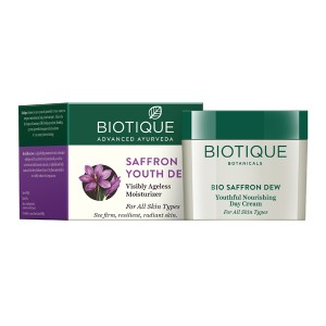 Buy Biotique Saffron Youth Dew Visibly Ageless Moisturizer - Nykaa