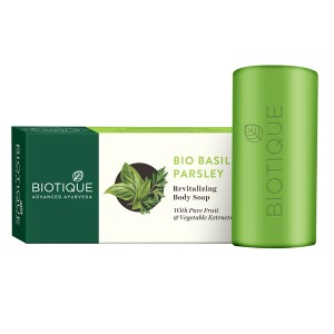 Buy Biotique Basil And Parsley Revitalizing Body Soap - Nykaa