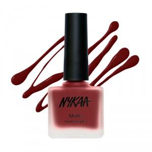 Buy Nykaa Fall Winter Matte Nail Enamel - Ruby Blaze 120 - Nykaa