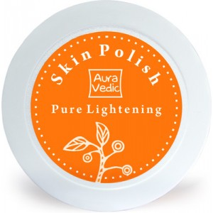 Buy AuraVedic Pure Lightening Skin Polish with Sandal Turmeric Scrub - Nykaa