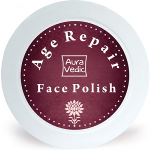 Buy AuraVedic Age Repair Face Polish with Pomegranate Grapeseed - Nykaa