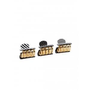 Buy Toniq Monochrome Hair Clip Set - Nykaa