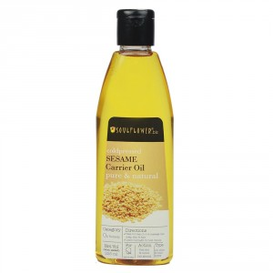 Buy Soulflower Coldpressed Sesame Pure Natural Carrier Oil - Nykaa