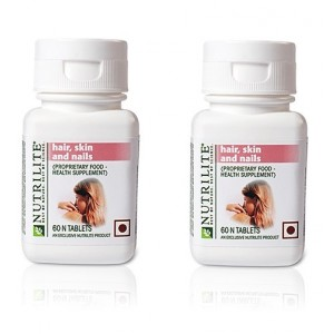 Buy Amway Nutrilite Hair Skin & Nails - 60 Tablets - Pack of 2 - Nykaa