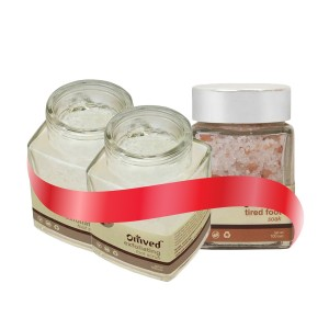 Buy Omved Exfoliating Foot Scrub Buy 2 + Get Omved Tired Foot Soak Free - Nykaa