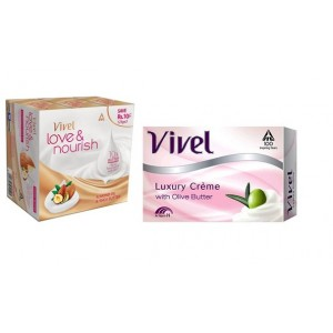 Buy Vivel Love & Nourish Soap With Almond Oil & Shea Butter (Pack of 3) + Love & Nourish Avocado Oil & Olive Butter 75gm (Free) - Nykaa