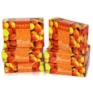 Buy Vaadi Herbals Super Value Pack Of 6 Perky Peach Soap With Almond Oil - Nykaa