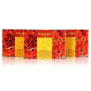 Buy Vaadi Herbals Value Pack Of 3 Luxurious Saffron Soap - Skin Whitening Therapy - Nykaa