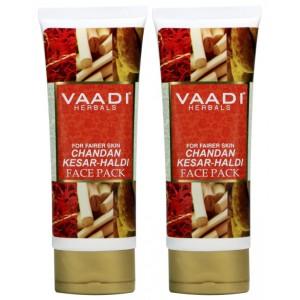 Buy Herbal Vaadi Herbals Value Pack of 2 Chandan Kesar Haldi Fairness Face Pack - Nykaa