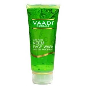 Buy Vaadi Herbals Anti-Acne Neem Face Wash With Tea Tree Extract - Nykaa