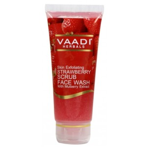 Buy Vaadi Herbals Strawberry Scrub Face Wash With Mulberry Extract - Nykaa