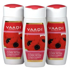 Buy Vaadi Herbals Value Pack Of 3 Corn Rose Conditioner With Hibiscus Extract - Nykaa