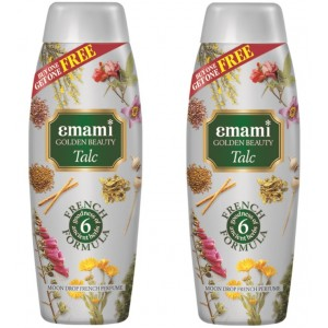 Buy Emami Golden Beauty Moon Drop Talc (Buy 1 Get 1 Free) - Nykaa