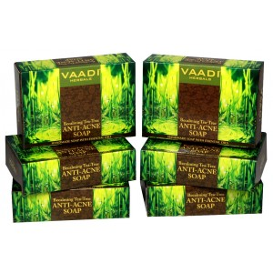 Buy Vaadi Herbals Super Value Pack Of 6 Becalming Tea Tree Soap Anti-Acne Therapy - Nykaa