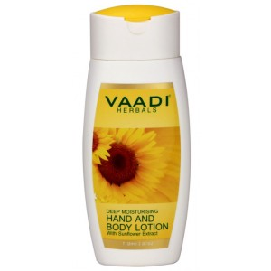 Buy Herbal Vaadi Herbals Hand & Body Lotion With Sunflower Extract - Nykaa