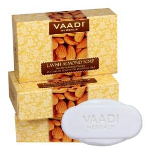 Buy Herbal Vaadi Herbals Value Pack Of 3 Lavish Almond Soaps - Nykaa