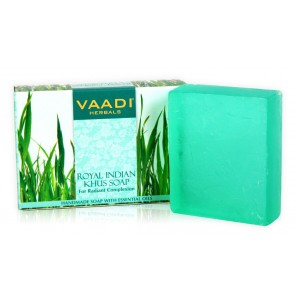 Buy Vaadi Herbals Royal Indian Khus Soap With Olive & Soyabean Oil - Nykaa