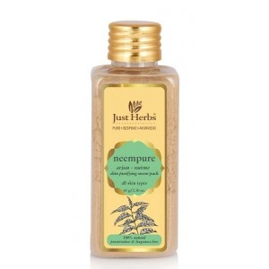 Buy Just Herbs Neempure Arjun–Nutmeg Skin Purifying Neem Pack - Nykaa