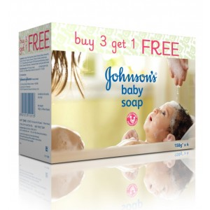 Buy Johnson's Baby Soap Buy 3 Get 1 Free - Nykaa