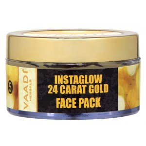 Buy Vaadi Herbals 24 Carat Gold Face Pack - Vitamin-E & Lemon Peel - Nykaa