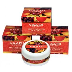 Buy Vaadi Herbals Value Pack Of 3 Fruit Tropicana Face Cream With Honeysuckle Extract - Nykaa