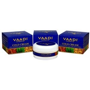 Buy Vaadi Herbals Cold Cream With Almond Oil, Aloe Vera & Saffron (Pack of 3) - Nykaa