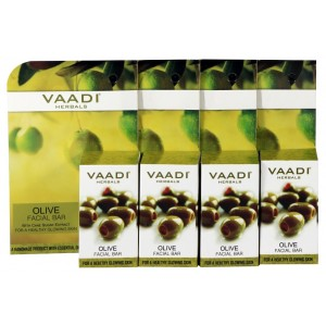 Buy Vaadi Herbals Value Pack Of 4 Olive Facial Bar With Cane Sugar Extract - Nykaa