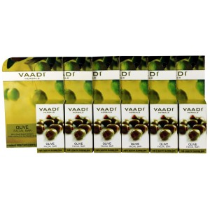 Buy Vaadi Herbals Super Value Pack Of 6 Olive Facial Bar With Cane Sugar Extract - Nykaa