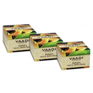 Buy Vaadi Herbals Value Pack Of 3 Papaya Face & Body Cream - Nykaa