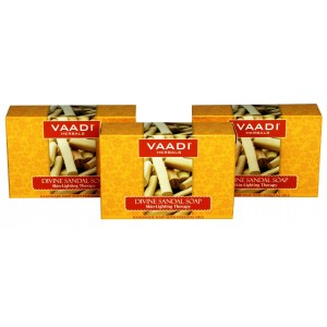Buy Vaadi Herbals Value Pack Of 3 Divine Sandal Soap With Saffron & Turmeric - Nykaa