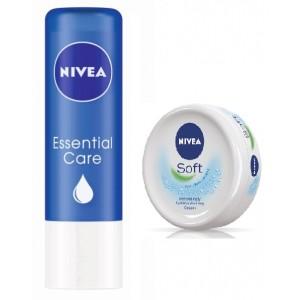 Buy Nivea Essential Care-Lip Balm + Free Nivea Soft Cream - Nykaa