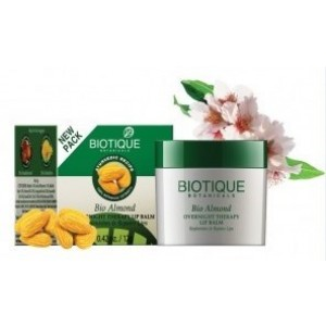 Buy Biotique Almond Overnight Therapy Lip Balm - Nykaa