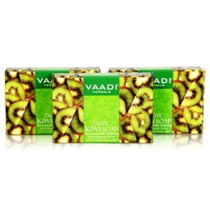 Buy Vaadi Herbals Value Pack Of 3 Exotic Kiwi Soap With Green Apple Extract - Nykaa
