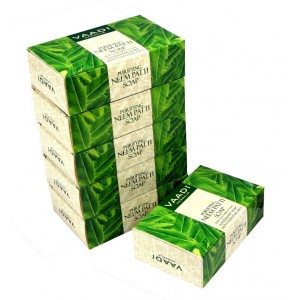 Buy Vaadi Herbals Super Value Pack Of 6 Purifying Neem - Patti Soaps With Pure Neem Leaves - Nykaa