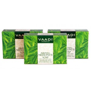 Buy Vaadi Herbals Value Pack Of 3 Purifying Neem - Patti Soaps With Pure Neem Leaves - Nykaa
