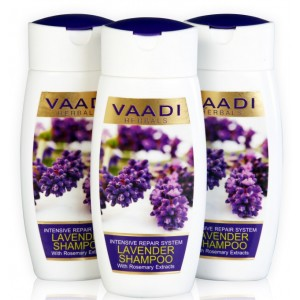 Buy Vaadi Herbals Value Pack Of 3 Lavender Shampoo With Rosemary Extract-Intensive Repair System - Nykaa