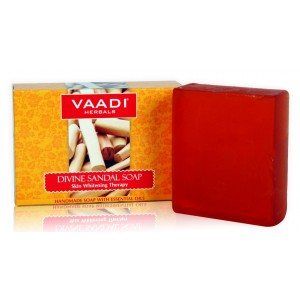 Buy Vaadi Herbals Divine Sandal Soap With Saffron & Turmeric - Nykaa
