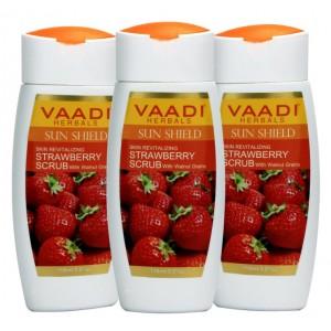 Buy Herbal Vaadi Herbals Value Pack Of 3 Strawberry Scrub Lotion With Walnut Grains - Nykaa