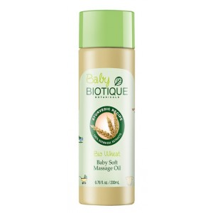 Buy Biotique Bio Wheat Germ Baby Soft Massage Oil  - Nykaa