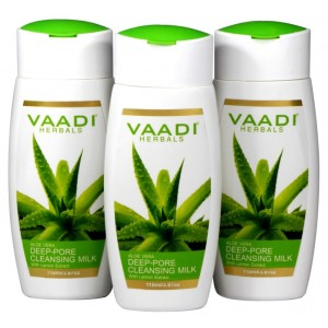 Buy Herbal Vaadi Herbals Value Pack Of  3 Aloevera Deep Pore Cleansing Milk With Lemon Extract - Nykaa
