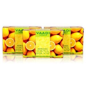 Buy Vaadi Herbals Value Pack Of 3 Refreshing Lemon And Basil Soap - Nykaa