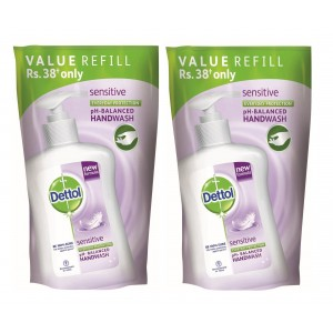 Buy Dettol Liquid Soap Sensitive Refill Pouch (Pack Of 2) With Rs.15 Off - Nykaa