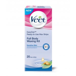 Buy Veet Ready To Use Wax Strips Full Body Waxing Kit - Sensitive Skin - Nykaa